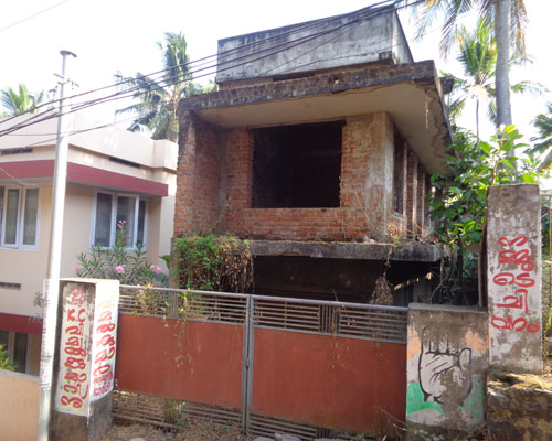 Nalanchira real estate kerala Nalanchira 2 cents land plots with building for sale