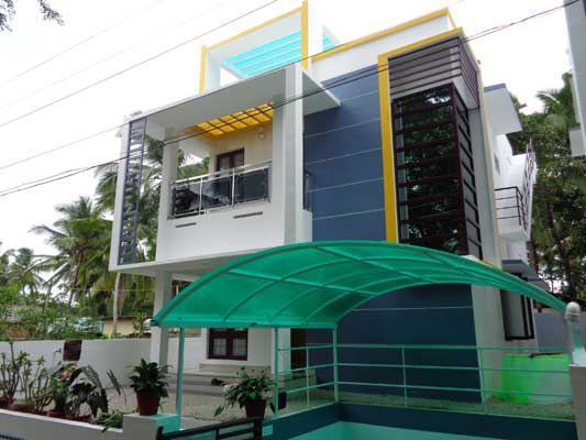 Contemporary Designed New 3 BHK House for Sale at Peyad Trivandrum Kerala Thirumala